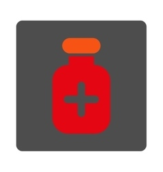 Medication Tube Flat Button vector image