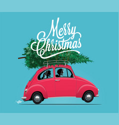 merry christmas themed vector image