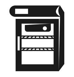Mini fridge icon simple style vector
