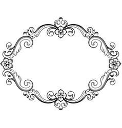 ornamental vintage frame in vector image