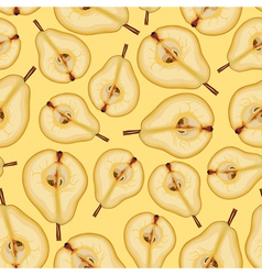 Pear half pattern vector