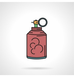 Pink paintball grenade flat icon vector image