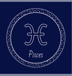 pisces astrology zodiac sign isolated in circle vector image