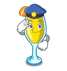Police mimosa character cartoon style vector