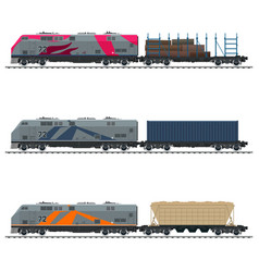 Railway freight transportation vector
