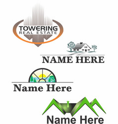 Real estate logos 1 vector