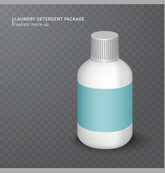 realistic white plastic bottle on transparent vector image