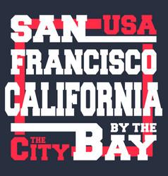 San francisco t-shirt print design vector