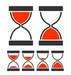 Sand glass timer vector