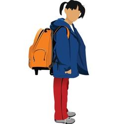 school kid vector image