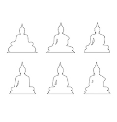 Set of Buddha Path on the white background vector