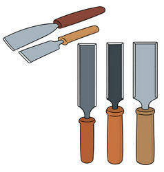 set of chisel vector image