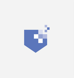 shield logo design vector image