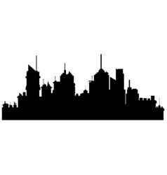 silhouette city buildings skyscraper town vector image
