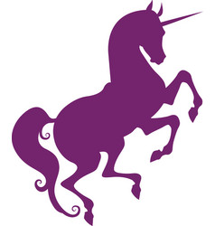 silhouette of unicorn vector image