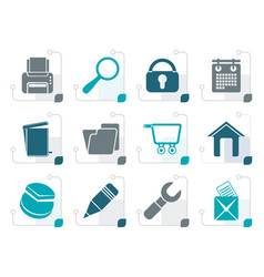stylized website internet and computer icons vector image