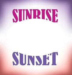 Sunrise Sunset vector image
