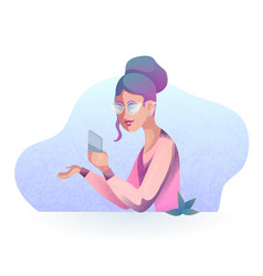 textural of a hipster girl vector image