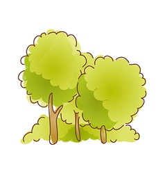 The threes in forest vector