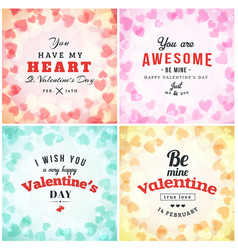Valentines day greeting card or poster design vector