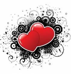 valentines grunge vector image
