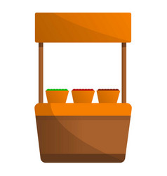 vegetables street kiosk icon cartoon style vector image