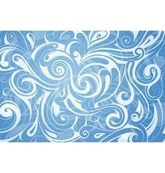 Water swirls ornament vector