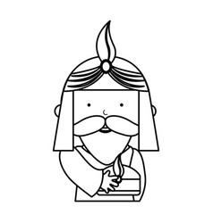 wise man manger character vector image