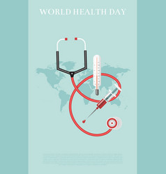 world health day mediacal vector image