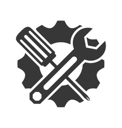 Wrench and screwdriver icon Tool design vector