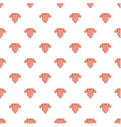 baby girl clothes pattern seamless vector image vector image