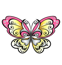 cartoon butterfly graphic vector image