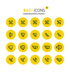 easy icons 31c phones vector image vector image