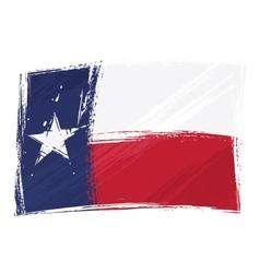 grunge texas flag vector image