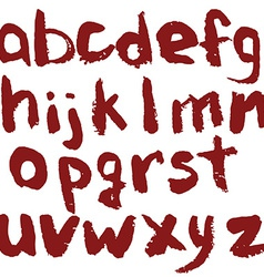 Hand Drawn English Alphabet vector image
