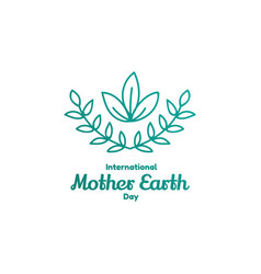 international mother earth day april 22 vector image