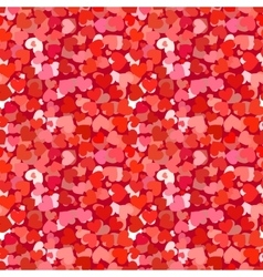 Many red and pink hearts seamless pattern vector image vector image