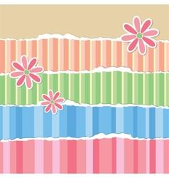 old torn wallpaper vector image vector image
