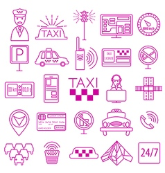 Taxi icon Thin line icon design vector image