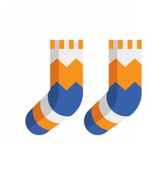 Winter Wool Socks Icon vector image vector image