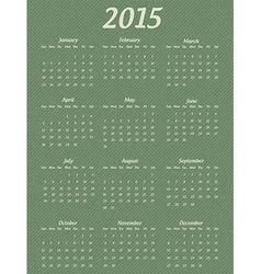 2015 year calendar vector image
