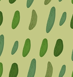 Background of green cucumber seamless pattern of vector image vector image