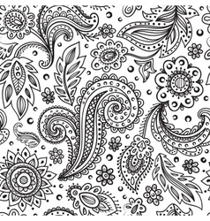 Beautiful floral seamless vector image vector image