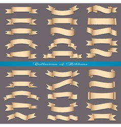Big set of banners ribbons scrolls vector image vector image