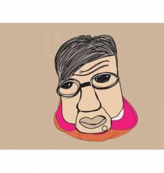 character portrait vector image