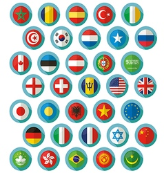 Flag of world icons vector image