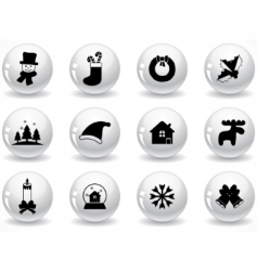 glossy grey buttons vector image vector image