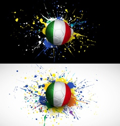 Italy flag with soccer ball dash on colorful vector image vector image