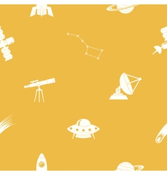 Seamless pattern with astronomy and space icons vector image