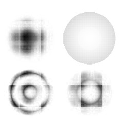set of abstract halftone design elements gradient vector image vector image